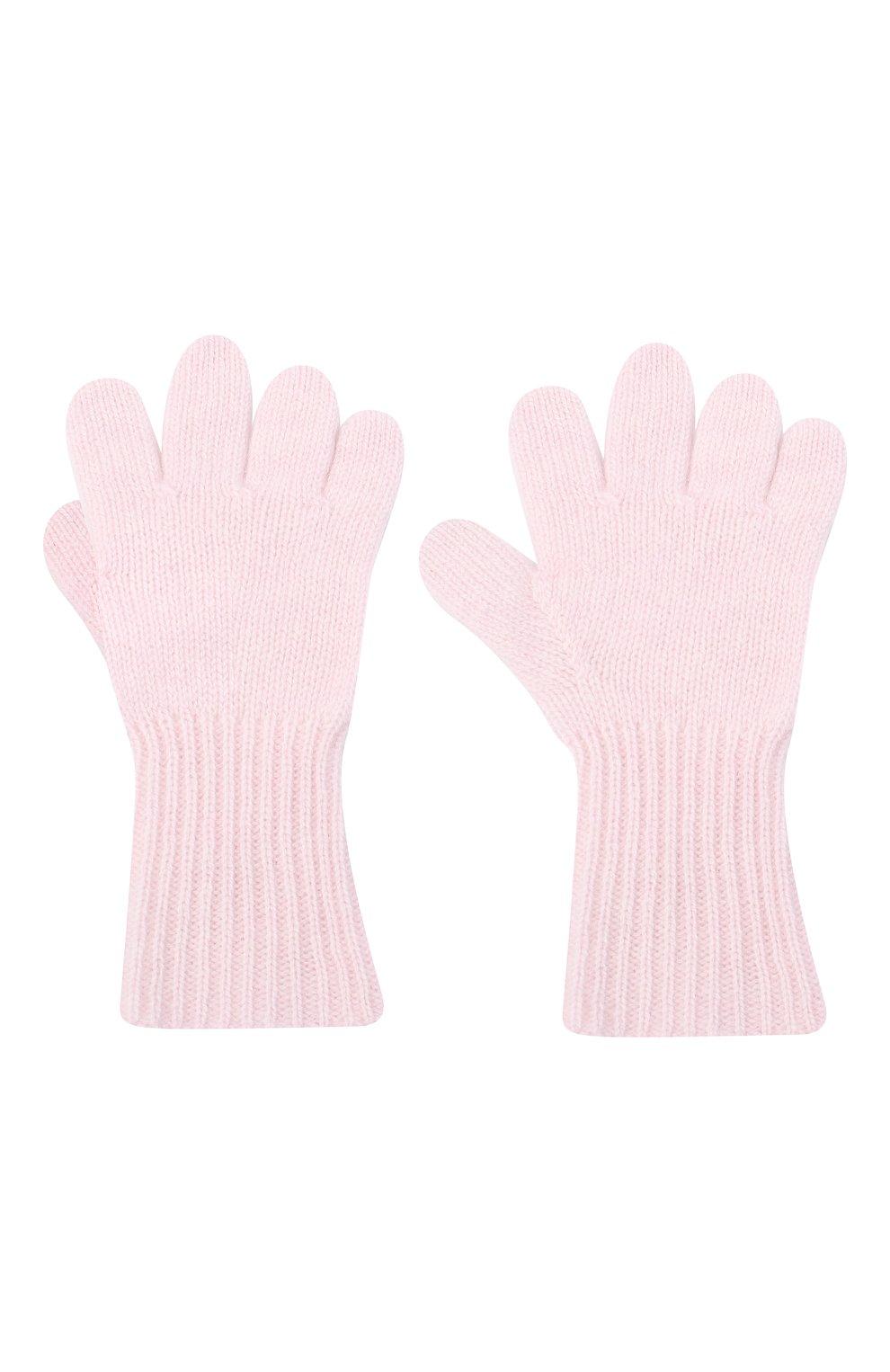 Детские кашемировые перчатки GIORGETTI CASHMERE розового цвета, арт. MB1699/4A | Фото 2