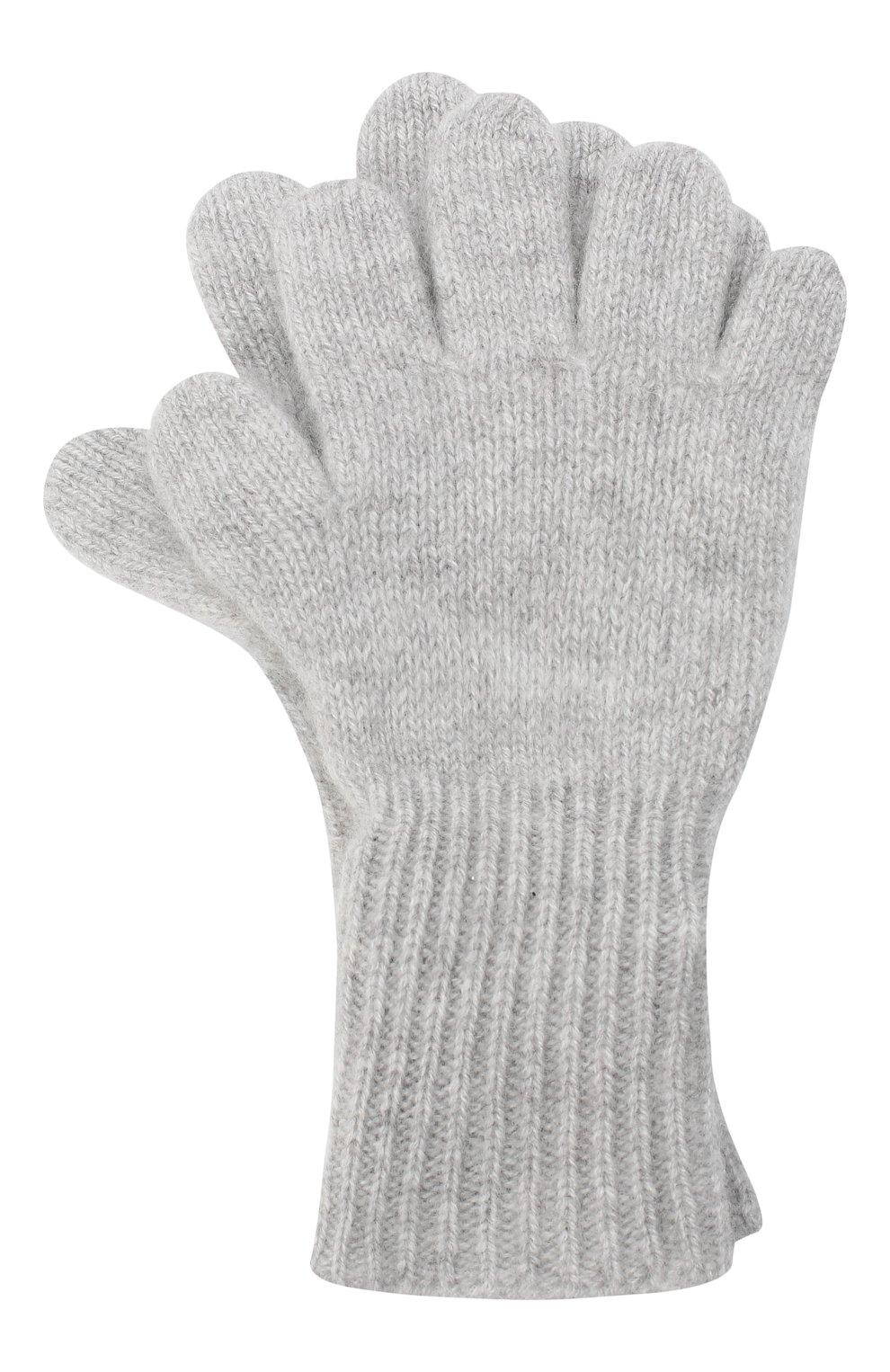 Детские кашемировые перчатки GIORGETTI CASHMERE светло-серого цвета, арт. MB1699/4A | Фото 1