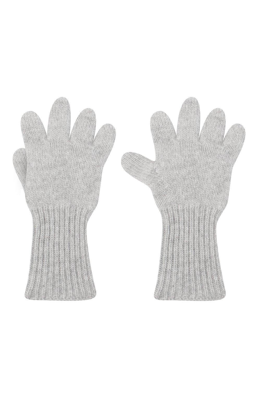 Детские кашемировые перчатки GIORGETTI CASHMERE светло-серого цвета, арт. MB1699/4A | Фото 2