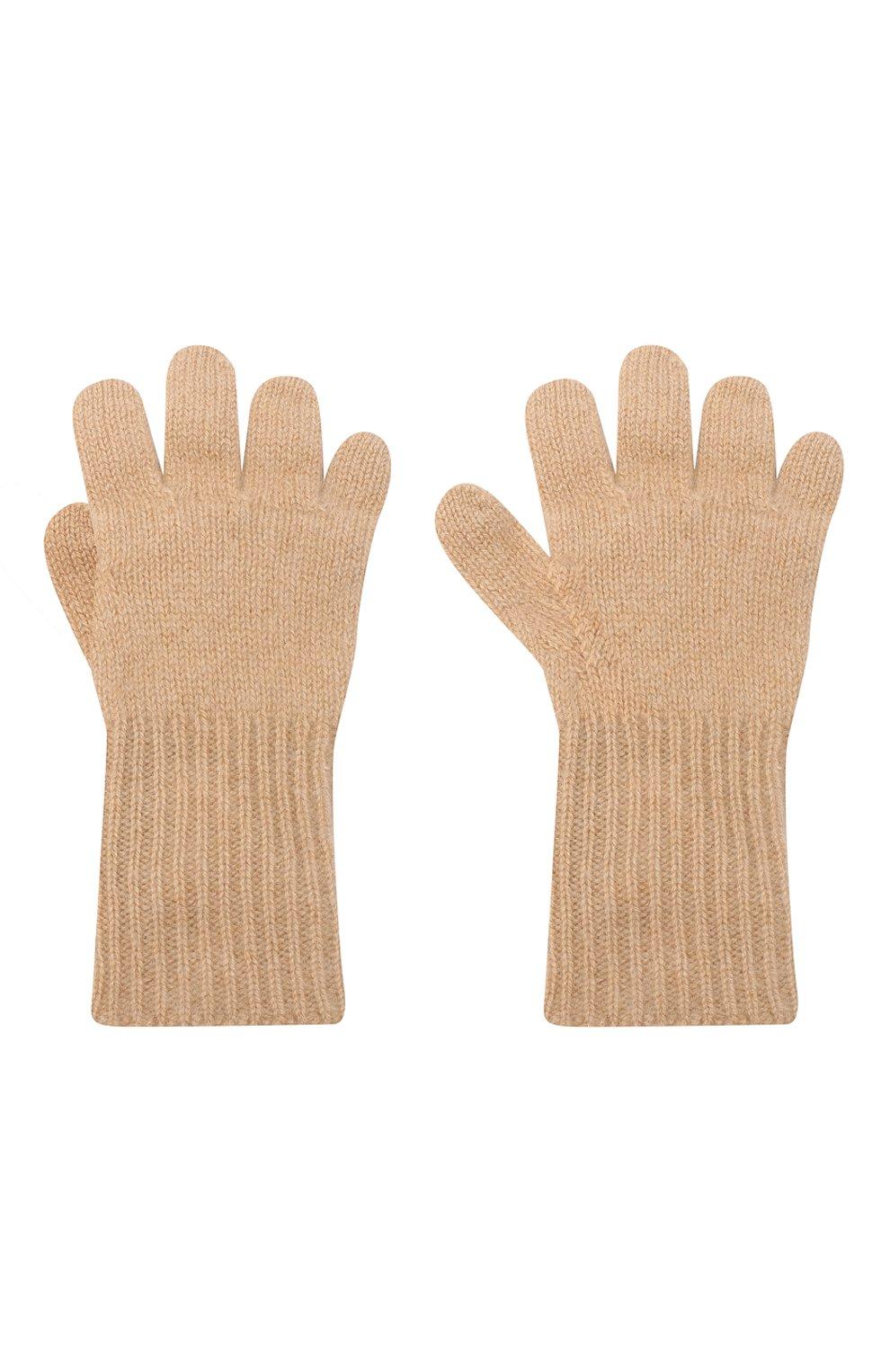 Детские кашемировые перчатки GIORGETTI CASHMERE бежевого цвета, арт. MB1699/4A | Фото 2 (Материал: Кашемир, Шерсть)