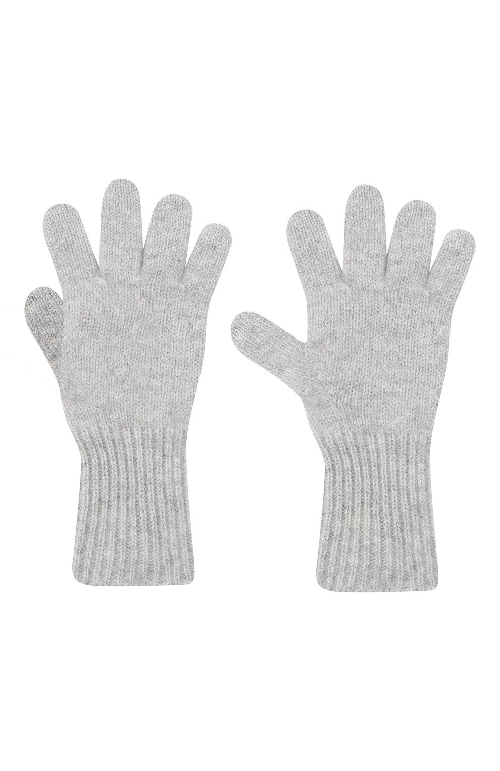 Детские кашемировые перчатки GIORGETTI CASHMERE светло-серого цвета, арт. MB1699/8A | Фото 2