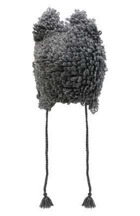 Детского шерстяная шапка DOLCE & GABBANA темно-серого цвета, арт. LBKH53/JAVYT | Фото 2