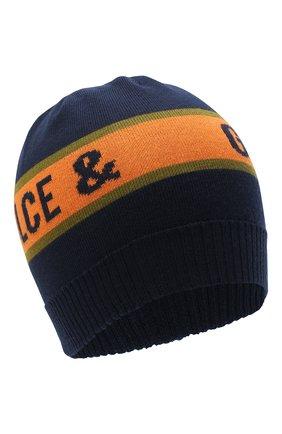 Детского шерстяная шапка DOLCE & GABBANA темно-синего цвета, арт. LBKH38/JAVWG | Фото 1