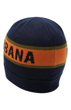 Детского шерстяная шапка DOLCE & GABBANA темно-синего цвета, арт. LBKH38/JAVWG | Фото 2