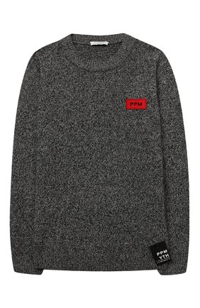 Детский шерстяной пуловер PAOLO PECORA MILANO черного цвета, арт. PP2392/14A-16A | Фото 1