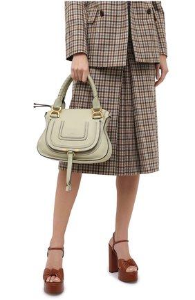Женская сумка marcie small CHLOÉ зеленого цвета, арт. CHC17WS928161 | Фото 2