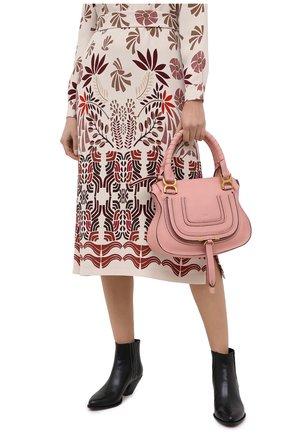 Женская сумка marcie small CHLOÉ розового цвета, арт. CHC17WS928161 | Фото 2