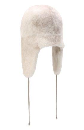Женская норковая шапка-ушанка KUSSENKOVV светло-бежевого цвета, арт. 92000024094 | Фото 2