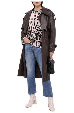 Женские кожаные ботильоны VIC MATIE светло-серого цвета, арт. 1Y5306D.Y24C7RB529 | Фото 2