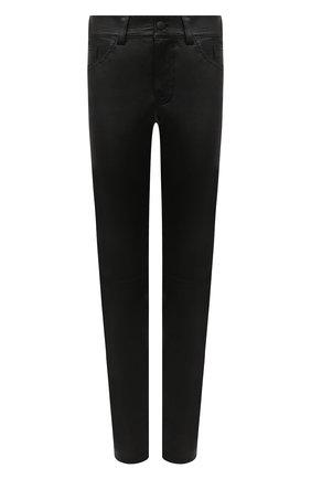 Женские кожаные брюки JACOB COHEN черного цвета, арт. GILDA P 02240-N/54 | Фото 1