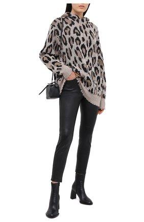 Женские кожаные брюки JACOB COHEN черного цвета, арт. GILDA P 02240-N/54 | Фото 2
