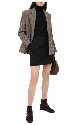 Женские замшевые ботинки PERTINI темно-коричневого цвета, арт. 192W12901C5 | Фото 2