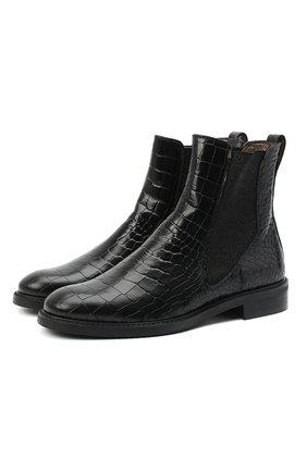 Женские кожаные челси PERTINI черного цвета, арт. 192W16405D1 | Фото 1