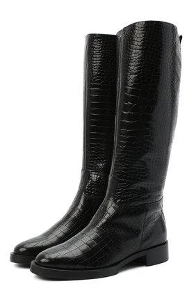 Женские кожаные сапоги PERTINI черного цвета, арт. 202W30471D1 | Фото 1