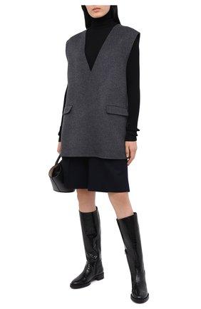 Женские кожаные сапоги PERTINI черного цвета, арт. 202W30471D1 | Фото 2