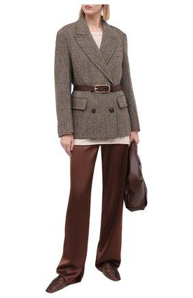 Женский кашемировый свитер EXTREME CASHMERE бежевого цвета, арт. 136/HEIN | Фото 2