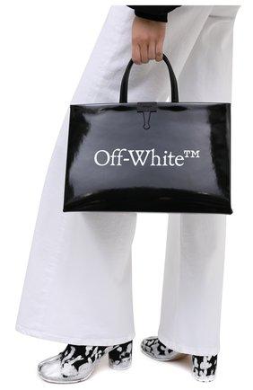 Женский сумка box OFF-WHITE черно-белого цвета, арт. 0WNA058E20LEA0011001 | Фото 2