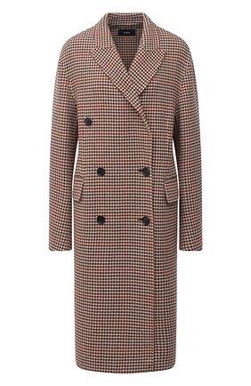 Женское шерстяное пальто JOSEPH коричневого цвета, арт. JF004861 | Фото 1 (Материал внешний: Шерсть; Рукава: Длинные; Длина (верхняя одежда): До колена; Стили: Классический)