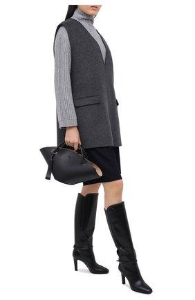 Женский кашемировый свитер WINDSOR серого цвета, арт. 52 DP470 10000805 | Фото 2