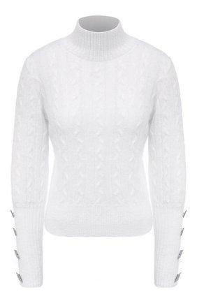 Женский шерстяной свитер GIUSEPPE DI MORABITO белого цвета, арт. PF20042KN-130 | Фото 1