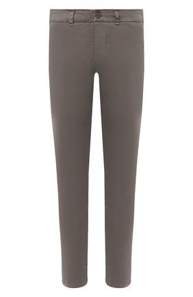 Мужские хлопковые брюки TRANSIT серого цвета, арт. CFUTRMA100   Фото 1 (Материал внешний: Хлопок; Случай: Повседневный; Силуэт М (брюки): Чиносы; Длина (брюки, джинсы): Стандартные; Стили: Кэжуэл)