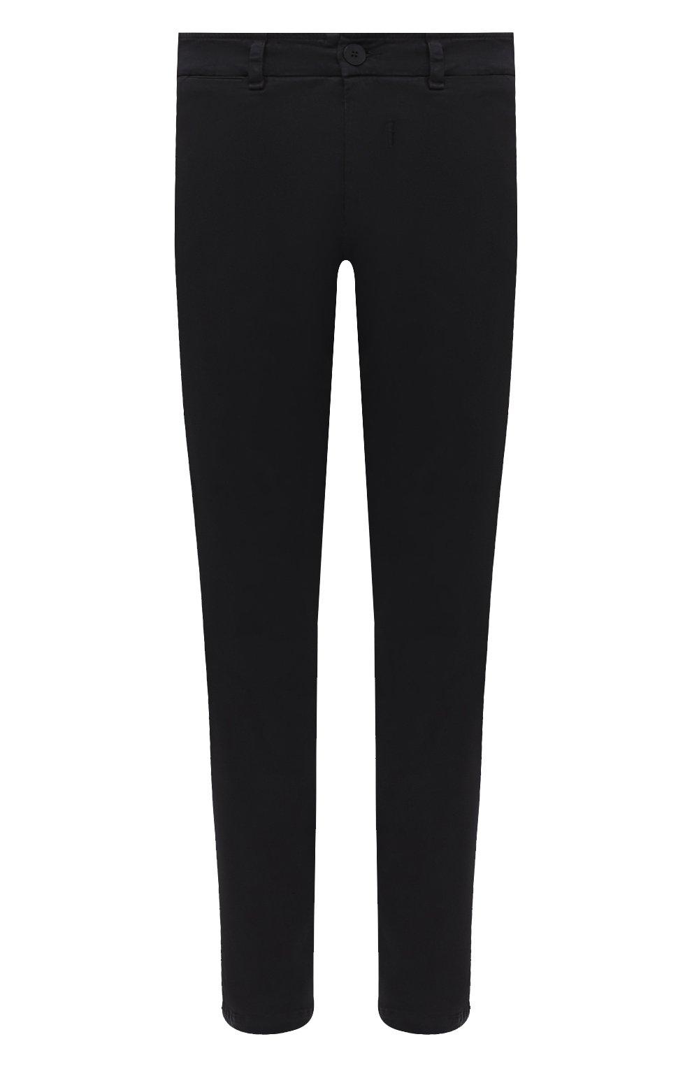 Мужские хлопковые брюки TRANSIT темно-серого цвета, арт. CFUTRMA100   Фото 1 (Силуэт М (брюки): Чиносы; Длина (брюки, джинсы): Стандартные; Случай: Повседневный; Материал внешний: Хлопок; Стили: Кэжуэл)