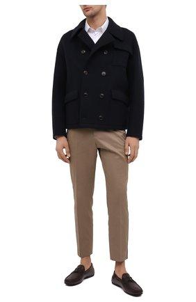 Мужские кожаные мокасины TOD'S бордового цвета, арт. XXM0LR0CT52D9C | Фото 2 (Материал внутренний: Натуральная кожа; Стили: Кэжуэл)