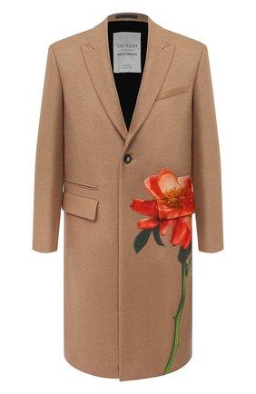 Мужской шерстяное пальто valentino x inez & vinoodh VALENTINO бежевого цвета, арт. UV0CAD656UY | Фото 1