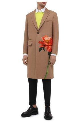 Мужской шерстяное пальто valentino x inez & vinoodh VALENTINO бежевого цвета, арт. UV0CAD656UY | Фото 2