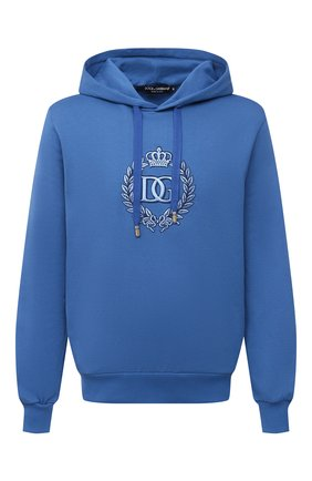Мужской хлопковое худи DOLCE & GABBANA синего цвета, арт. G9TI5Z/G7WZM | Фото 1