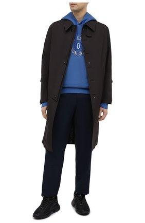 Мужской хлопковое худи DOLCE & GABBANA синего цвета, арт. G9TI5Z/G7WZM | Фото 2