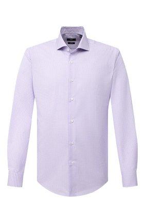 Мужская хлопковая сорочка BOSS сиреневого цвета, арт. 50439167 | Фото 1