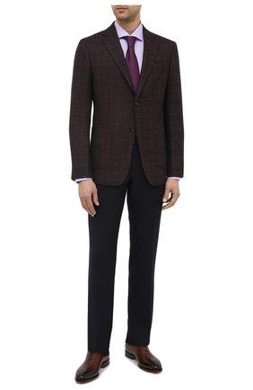 Мужская хлопковая сорочка BOSS сиреневого цвета, арт. 50439167 | Фото 2