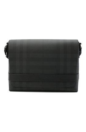Мужская сумка BURBERRY темно-серого цвета, арт. 8025158   Фото 1