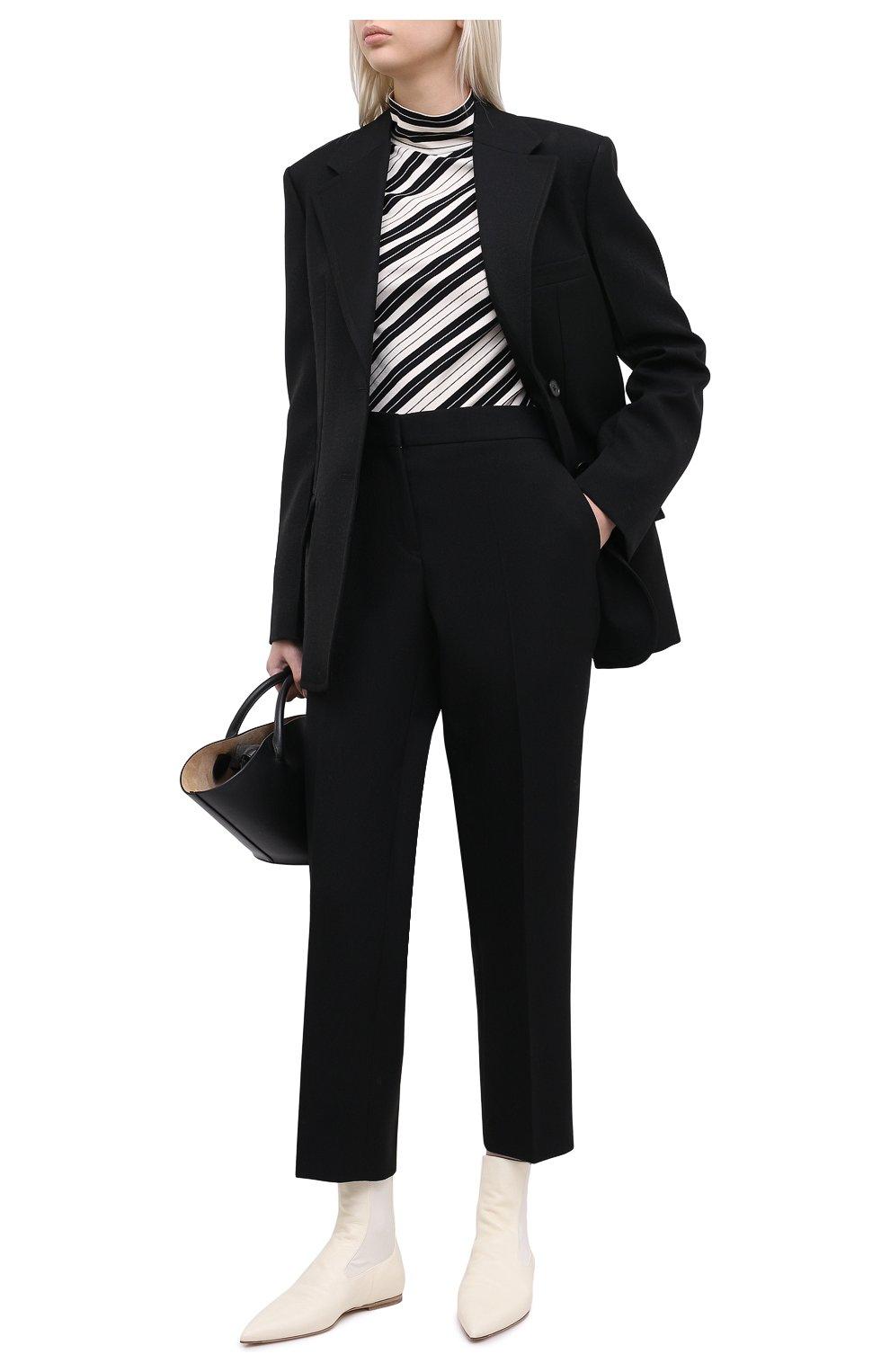 Женские кожаные ботинки JIL SANDER белого цвета, арт. JS35100A-12031 | Фото 2