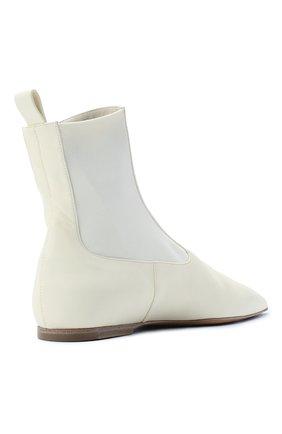 Женские кожаные ботинки JIL SANDER белого цвета, арт. JS35100A-12031 | Фото 4