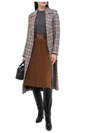 Женский кашемировый пуловер GUCCI серого цвета, арт. 628389/XKBH9 | Фото 2