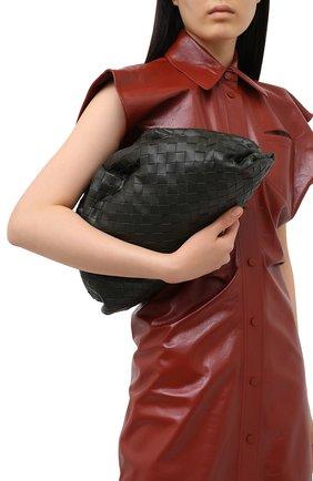 Женский клатч pouch BOTTEGA VENETA хаки цвета, арт. 576175/VCPP0   Фото 2