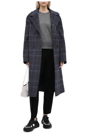 Женский кашемировый пуловер LORO PIANA серого цвета, арт. FAL2560 | Фото 2