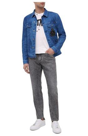Мужская джинсовая куртка DOLCE & GABBANA голубого цвета, арт. G9JC2Z/G8CV3 | Фото 2