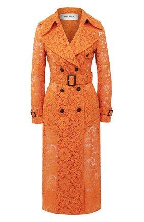 Женский плащ из хлопка и вискозы VALENTINO оранжевого цвета, арт. UB3CA4Y51EC   Фото 1