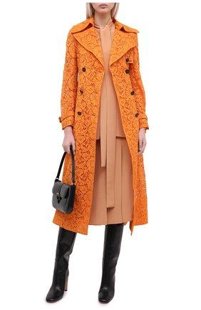 Женский плащ из хлопка и вискозы VALENTINO оранжевого цвета, арт. UB3CA4Y51EC   Фото 2