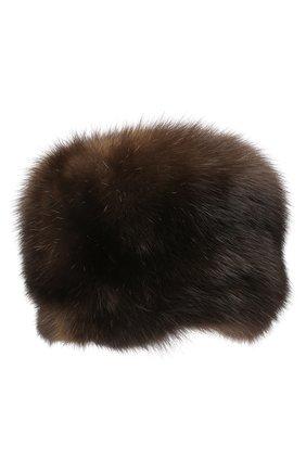 Женская меховая шапка KUSSENKOVV коричневого цвета, арт. 63500003676 | Фото 1