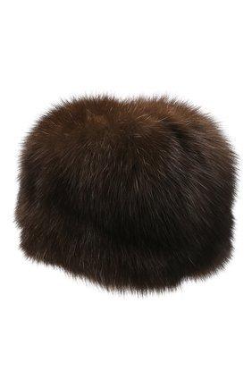 Женская меховая шапка KUSSENKOVV коричневого цвета, арт. 63500003676 | Фото 2