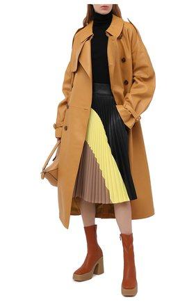 Женская юбка из вискозы STELLA MCCARTNEY черного цвета, арт. 601747/SKB20 | Фото 2
