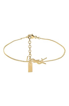 Женский браслет charm SAINT LAURENT золотого цвета, арт. 635533/Y1500 | Фото 1