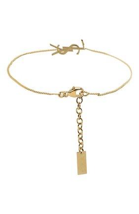 Женский браслет charm SAINT LAURENT золотого цвета, арт. 635533/Y1500 | Фото 2