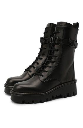 Кожаные ботинки Valentino Garavani Campsite | Фото №1