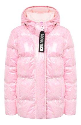 Женский пуховая куртка GOOSE TECH розового цвета, арт. GST.220.114.601 | Фото 1