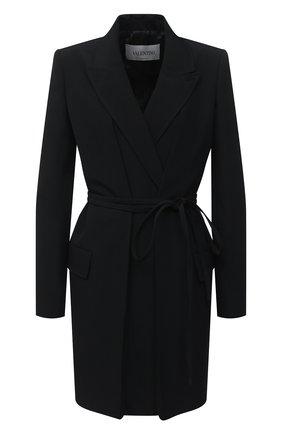 Женский шерстяной жакет VALENTINO черного цвета, арт. UB0CE2305VP | Фото 1